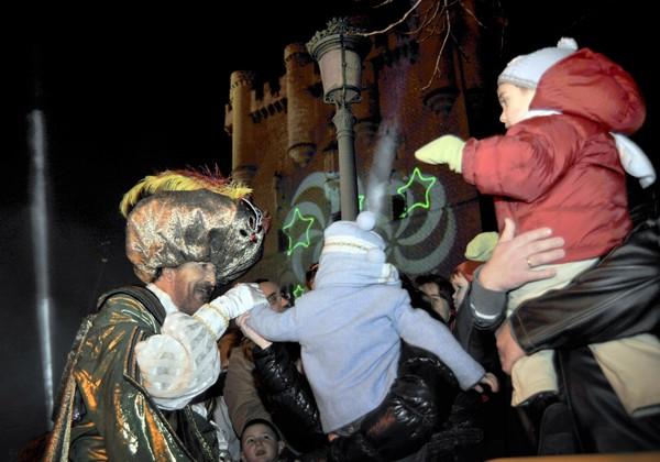 Los Reyes en el Alcázar de Segovia