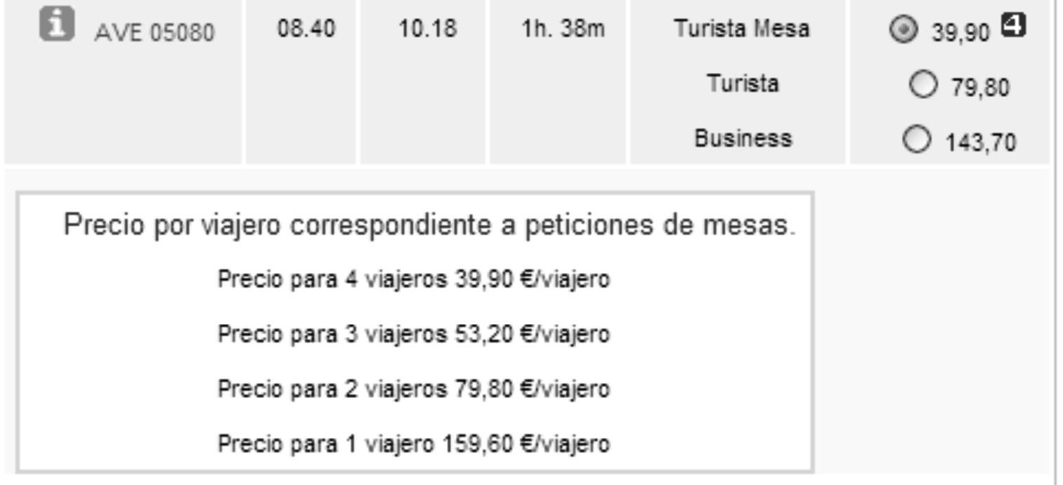 Nueva tarifa mesa de renfe for Tarifa mesa ave