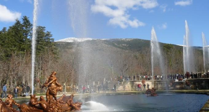 La ausencia de agua limita el funcionamiento de las Fuentes del Palacio de La Granja