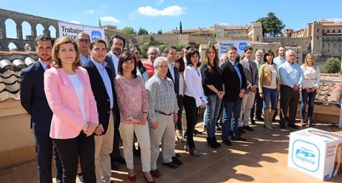 El Partido Popular presenta en sociedad su candidatura a la alcadía de Segovia