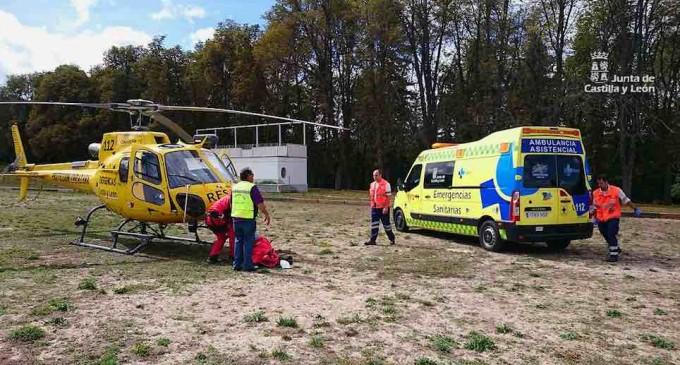 Rescate de un accidentado en Valsaín