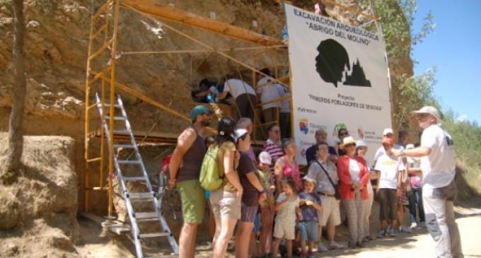 Día de puertas abiertas para visitar el yacimiento 'Abrigo del Molino'