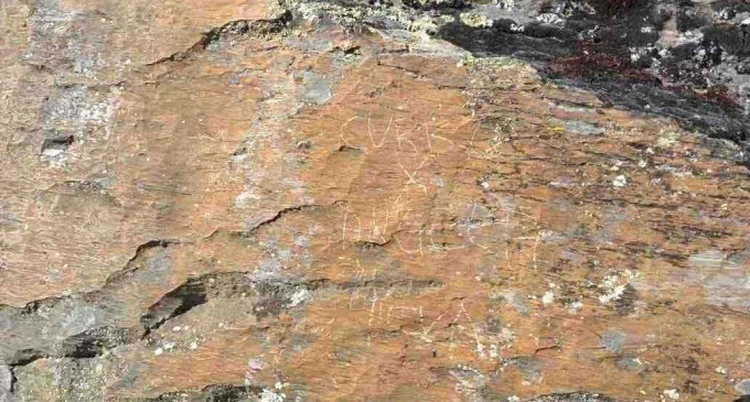 Actos vandálicos en yacimientos arqueológicos