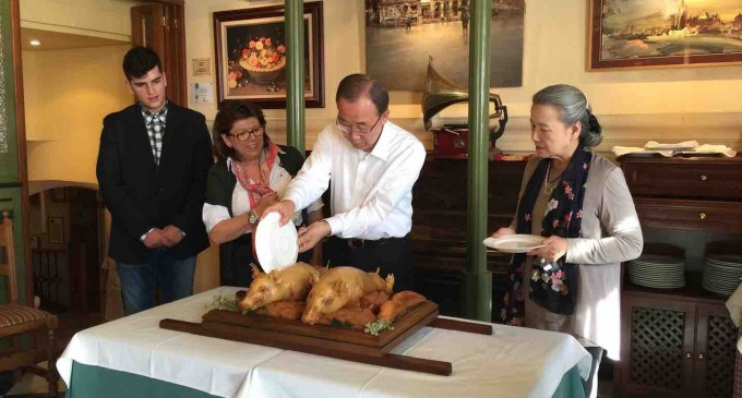 Ban Ki-Moon realiza una visita privada a Segovia y San Ildefonso