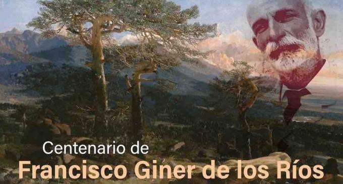 Homenaje a Giner de los Ríos en el centenario de su fallecimiento