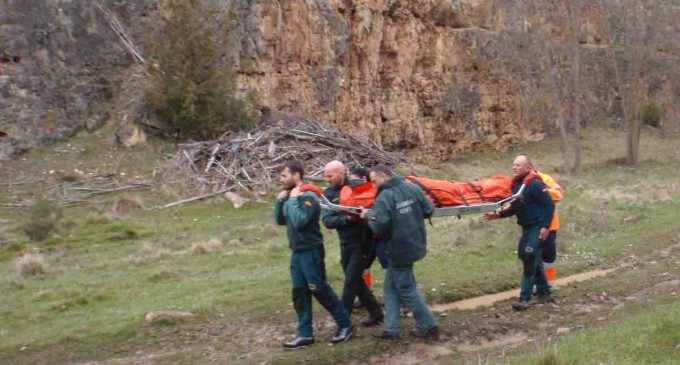 Rescate de una accidentada en las Hoces del río Duratón