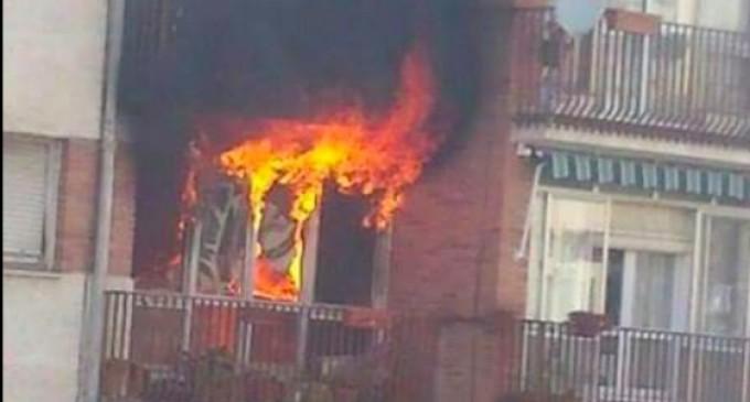 Dos fallecidos tras el incendio de una vivienda en Cuéllar