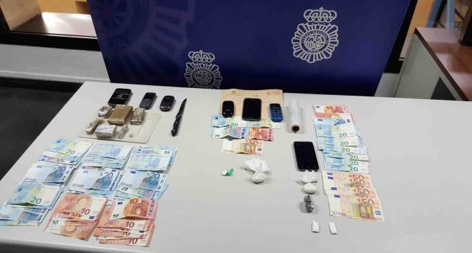 Tres detenidos por tráfico de estupefacientes