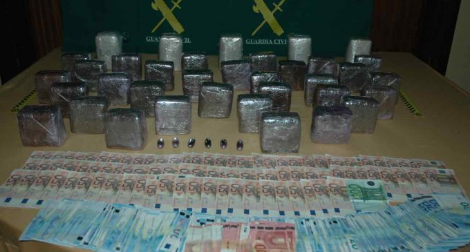 Dos detenidos en San Rafael con más de 21 kilos de hachís