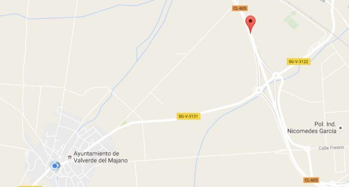 Un muerto y dos heridos tras una colisión en Valverde del Majano