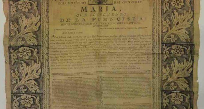 Una conclusión teológica dedicada a la Virgen de la Fuencisla, 'pieza desconocida' del Museo de Segovia