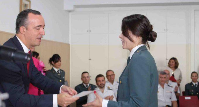 La Guardia Civil de Segovia recibe en Valencia un reconocimiento por su labor en los colegios de la provincia
