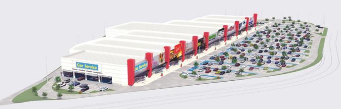 3D del nuevo centro comercial de Segovia.