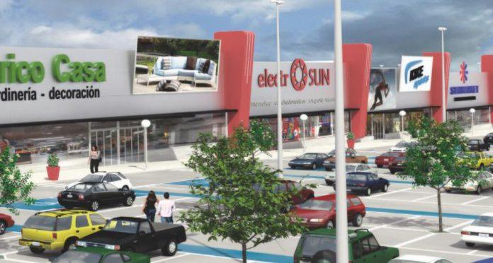 Recreación del nuevo centro comercial de Segovia, Parque Guiomar.