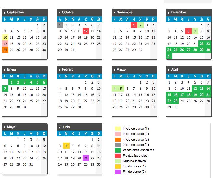 Calendario Escolar 18 19 Cantabria.Aqui Esta El Calendario Escolar 2018 2019 Noticias Y