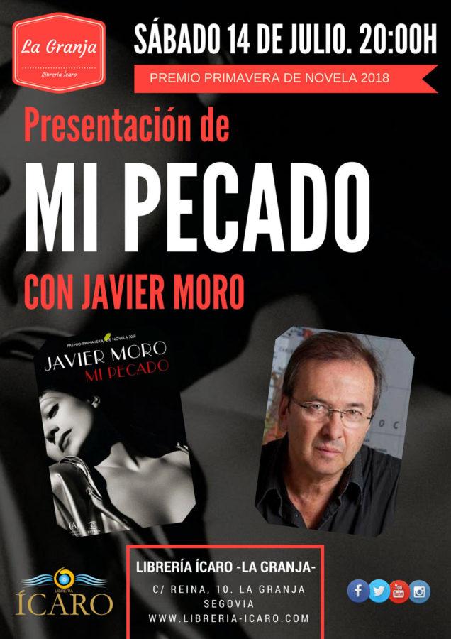 Javier Moro presenta 'Mi pecado' en la librería Ícaro
